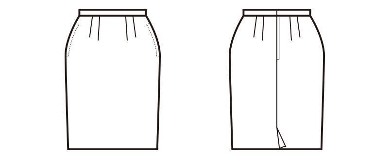 en joie(アンジョア) 51550 [通年]ウールタッチな肌触りで上質感あるプチプラのタイトスカート 無地 ハンガーイラスト・線画