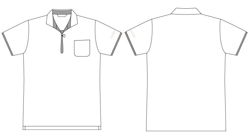 LW203 ローラアシュレイ 半袖ニットシャツ ポロシャツ(女性用)NLK ハンガーイラスト・線画