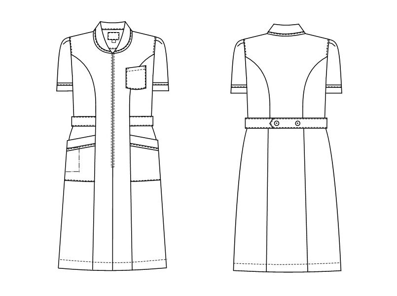 MI4637 ナガイレーベン(nagaileben) ミレリア ワンピース(女性用) ハンガーイラスト・線画