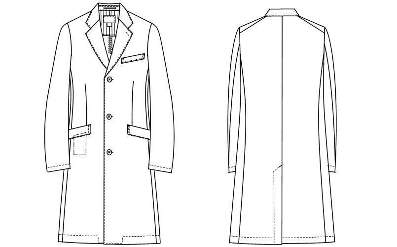 SD3000 ナガイレーベン(nagaileben) シングルコート長袖(男性用) ハンガーイラスト・線画