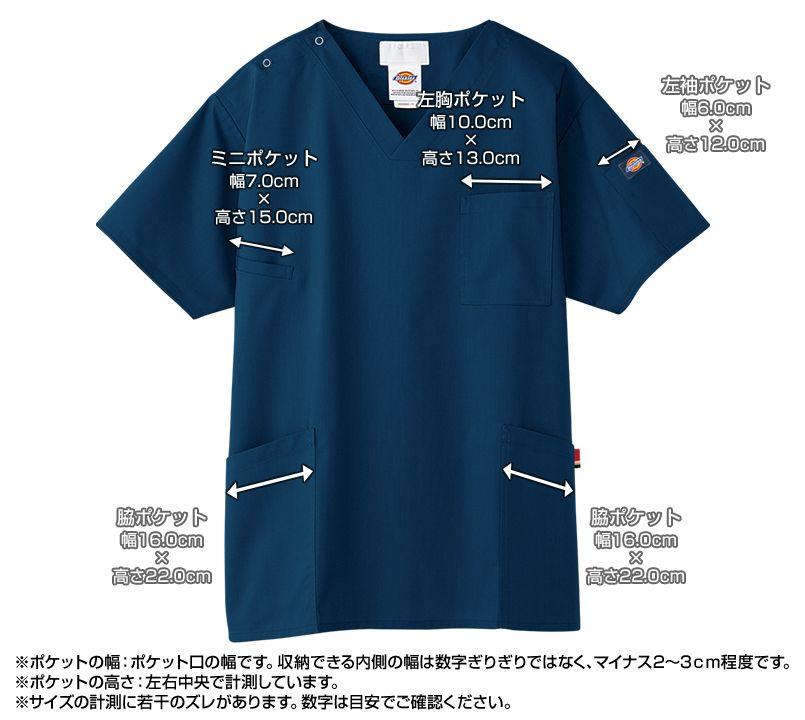 7033SC FOLK(フォーク)×Dickies スクラブ(男女兼用) ポケットサイズ