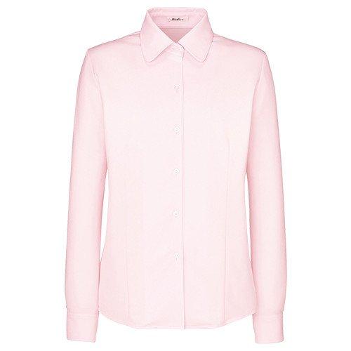 事務服 ピンクのブラウス